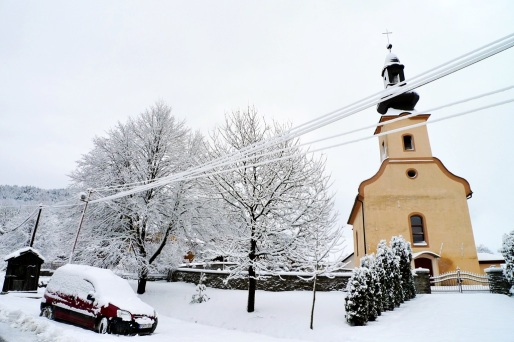 Obec Vitaz pod snehom 2015 P1310535